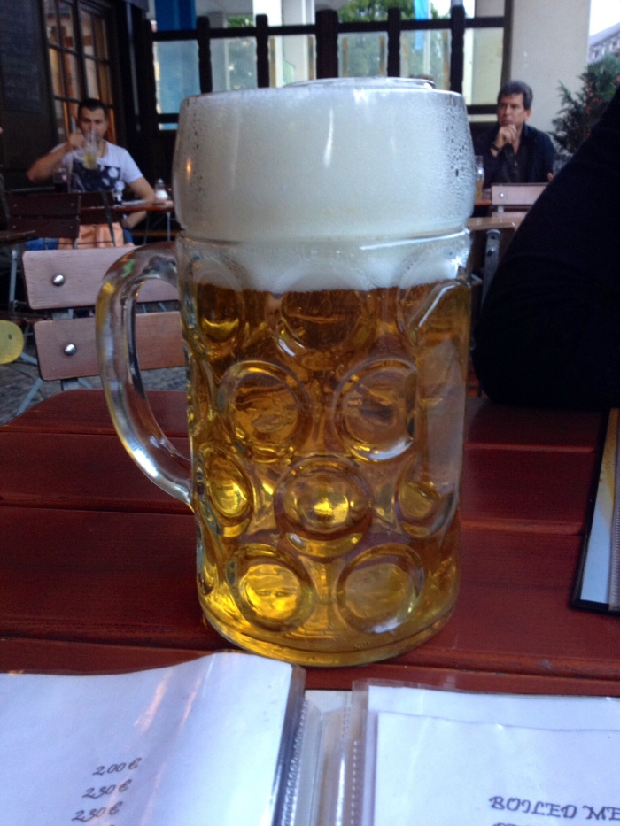 1L of beer. Because Germany.