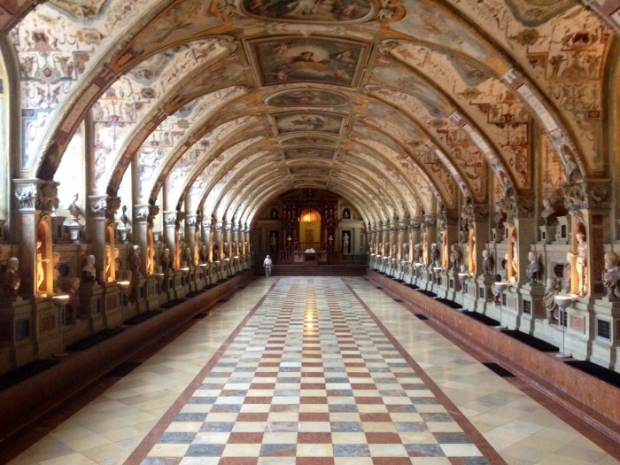 The Antiquarium inside Munich's Residenz.