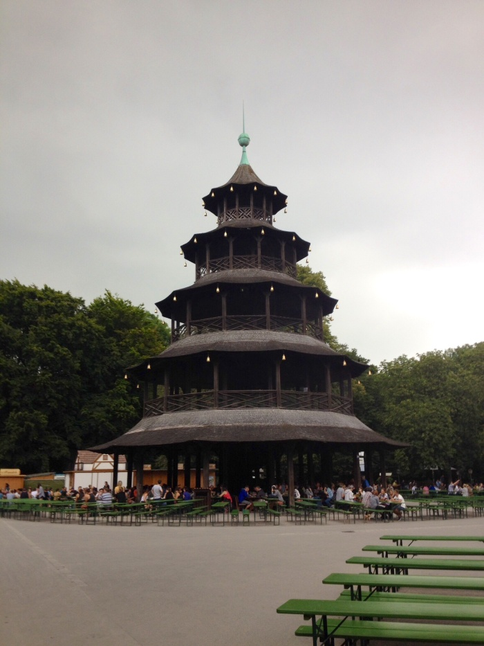 The Chinese Tower Beer Garden.
