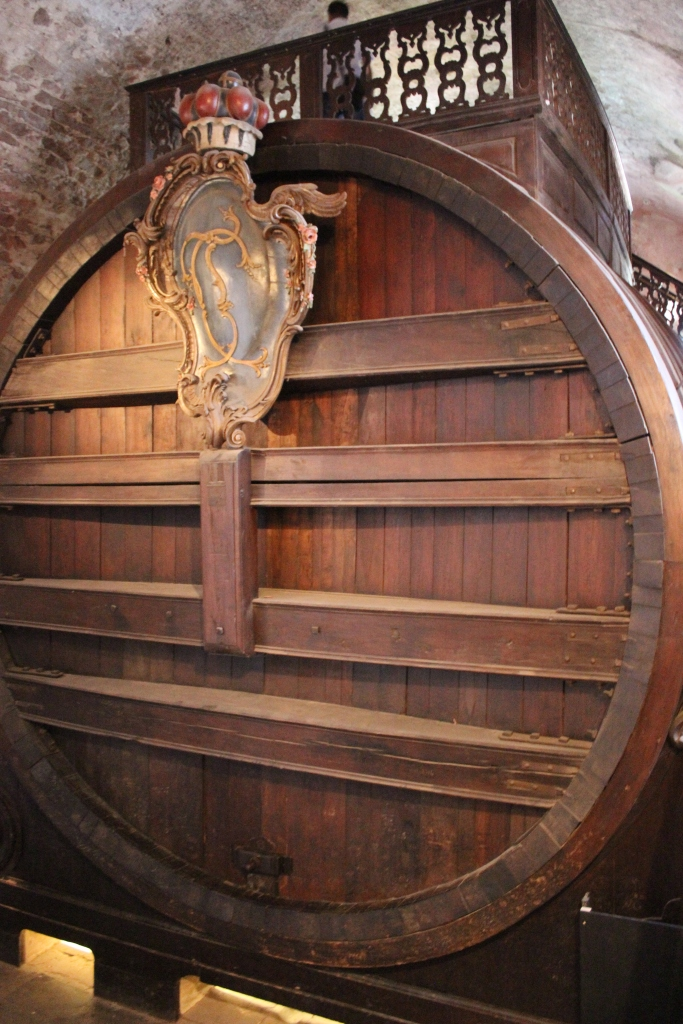 The 223,000L Great Barrel in the lower levels of the Heidelberg Castle.