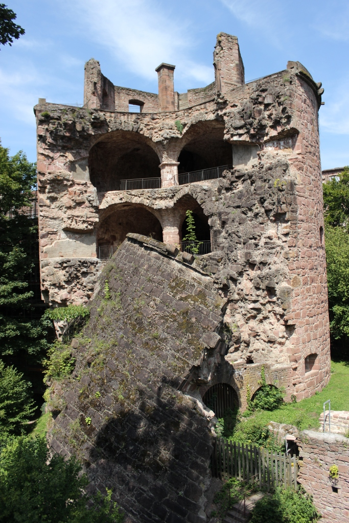 The Fat Tower of Heidelberg Castle, destroyed when lightning ignited the gun powder stored within.