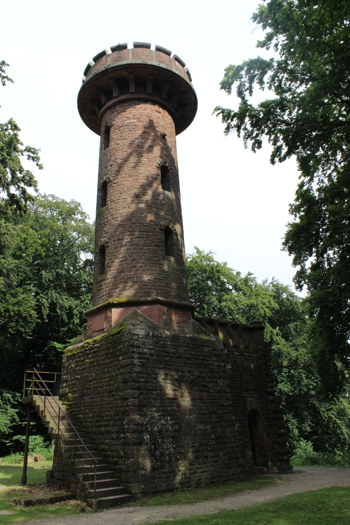 The actual tower, which, clearly, has been restored.